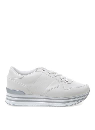 Limon Company Dona Suni Deri Bağcıklı Yüksek N Kadın Sne Beyaz